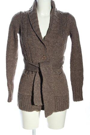 Apriori Sweter z dzianiny brązowy-kremowy Melanżowy W stylu casual