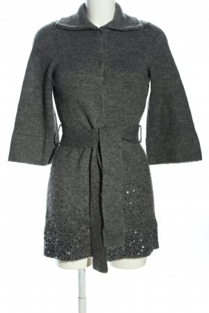 Apriori Sweter z dzianiny jasnoszary Melanżowy W stylu casual