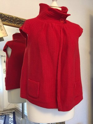 Apriori Short Sleeve Knitted Jacket red