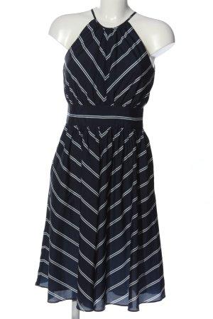 Apriori Robe à bretelles bleu-blanc motif rayé style décontracté