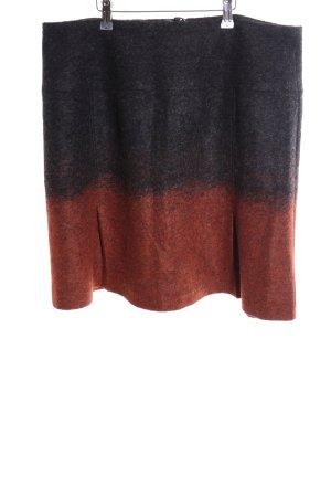 Apriori Wollrock schwarz-rot Farbverlauf Casual-Look