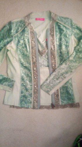 Apriori Podwójny zestaw ze splotu siatka jasnozielony-zielono-szary Poliester
