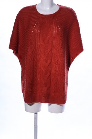 AproductZ Grobstrickpullover rot Zopfmuster Casual-Look