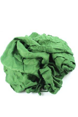 Apsara Écharpe à franges vert style décontracté