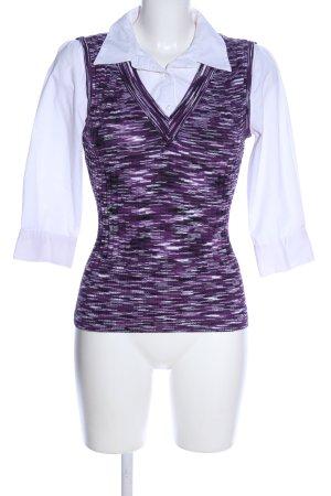 APT.9 Koszula z długim rękawem fiolet-biały W stylu biznesowym