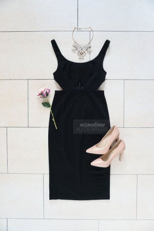 AQAQ Sheath Dress black