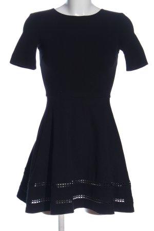 Aqua Kurzarmkleid schwarz Elegant