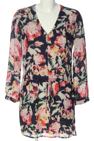 Aqua Longsleeve Dress allover print casual look