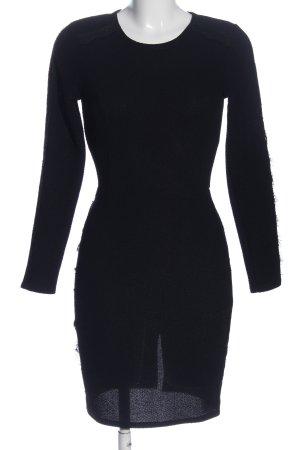 Aqua Longsleeve Dress black elegant