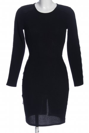 Aqua Langarmkleid schwarz Elegant