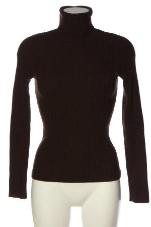 Aqua Turtleneck Sweater brown casual look