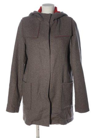 Aquascutum Manteau en laine gris clair moucheté style décontracté