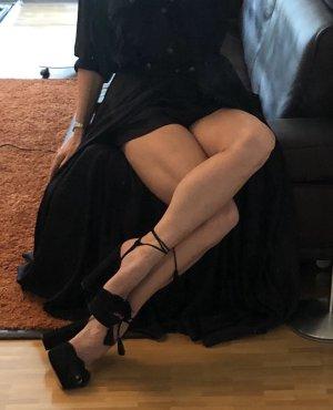 Aquazzura Sandales à plateforme noir cuir