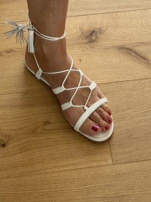 Aquazzura Sandalo con cinturino bianco Pelle