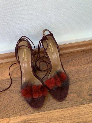 Aquazzura Sandalo con cinturino bordeaux