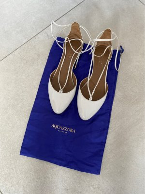 Aquazzura Ballerina weiß glänzend