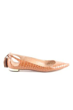 Aquazzura Ballerina a punta marrone stampa integrale stile casual