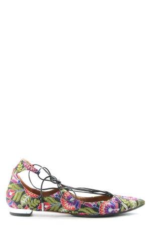 Aquazzura Ballerine en pointe motif de fleur style mode des rues