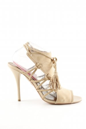 Aquazzura High Heel Sandaletten creme Casual-Look