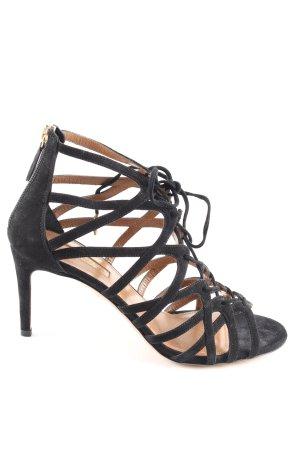Aquazzura Hoge hakken sandalen zwart casual uitstraling