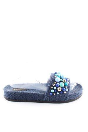 Aquazzura Ciabatta aperta blu stile casual