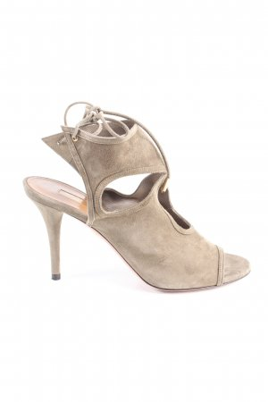 Aquazzura Peep Toe Pumps khaki elegant