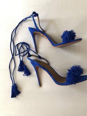 Aquazzura Romeinse sandalen blauw
