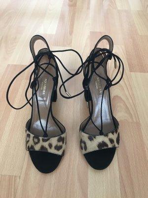 Aquazzura Strapped High-Heeled Sandals multicolored