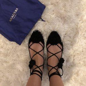 Aquazzura Romeinse sandalen zwart
