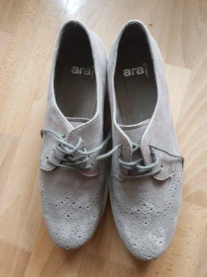 ara Basket à lacet argenté-gris clair