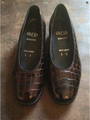 ara Slip-on Shoes dark brown-brown red