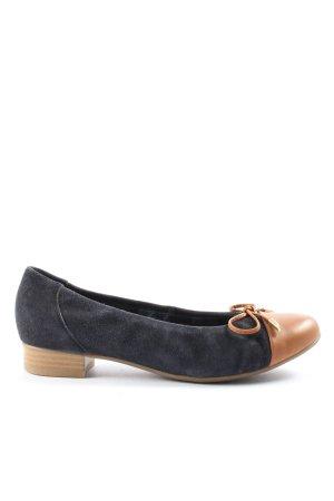ara Foldable Ballet Flats blue-light orange casual look