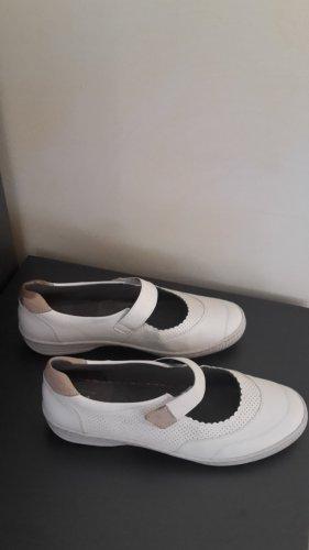 ara Sandalen met bandjes en hoge hakken wit Leer