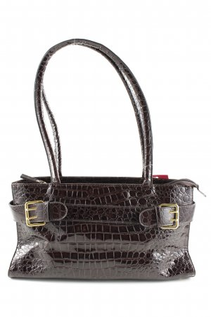 ara Handbag brown allover print business style