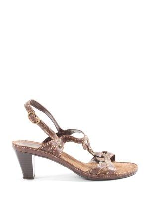 ara Sandales à talon haut brun style décontracté