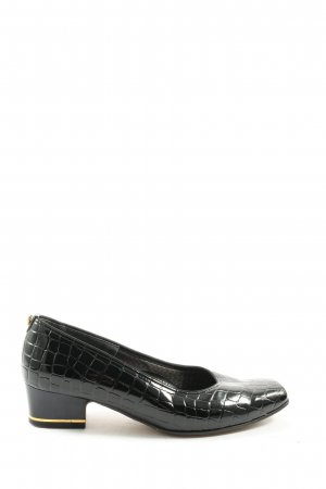 ara High-Front Pumps black allover print business style