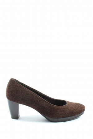 ara High-Front Pumps brown-black leopard pattern casual look