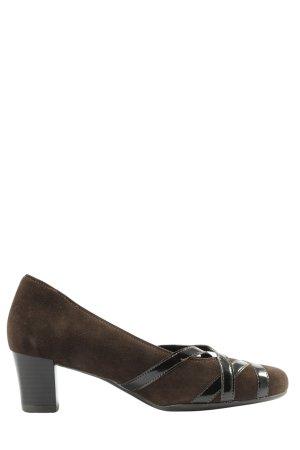 ara Buty z zabudowanym przodem brązowy W stylu biznesowym
