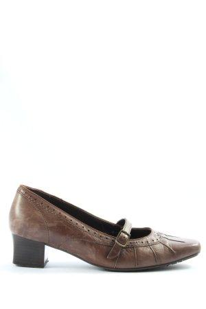 ara Chaussure à talons carrés brun style décontracté