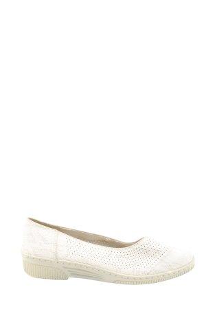 ara Ballerines classiques blanc motif animal style décontracté