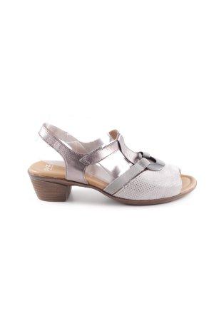 ara Komfort-Sandalen silberfarben Punktemuster Casual-Look