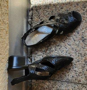 ara Sandalias de tacón de tiras negro Cuero