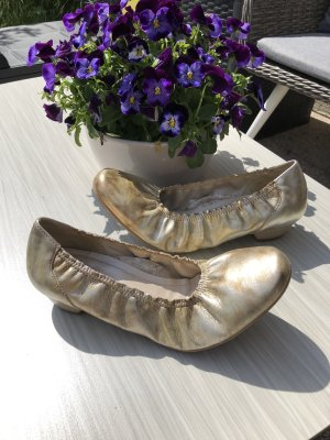 ara Foldable Ballet Flats gold-colored