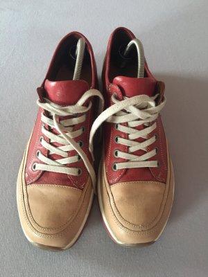 Ara Luftpolster Lace-Up Sneaker beige-dark red