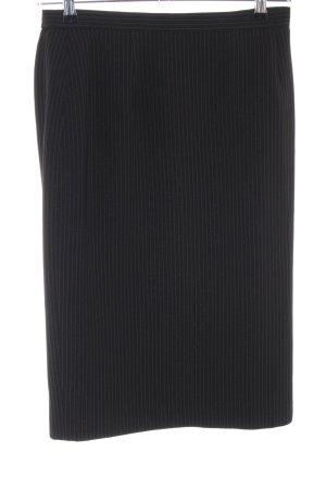 ara Midi-rok zwart gestreept patroon zakelijke stijl