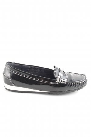 ara Mokassins schwarz-weiß Casual-Look