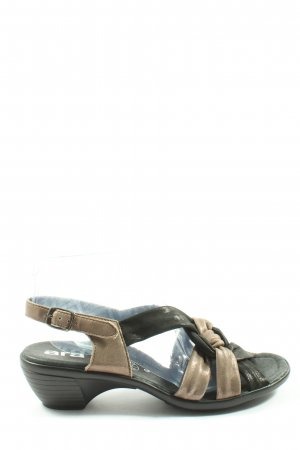 ara Sandale d'extérieur noir-crème style décontracté