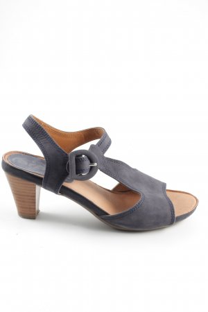 ara Strapped High Heeled Sandals light grey casual look