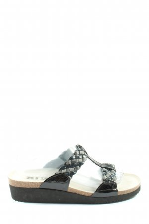 ara Sabot nero-bianco sporco stile casual