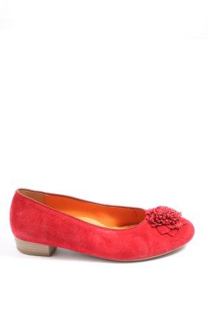 ara Ballerines classiques rouge style décontracté